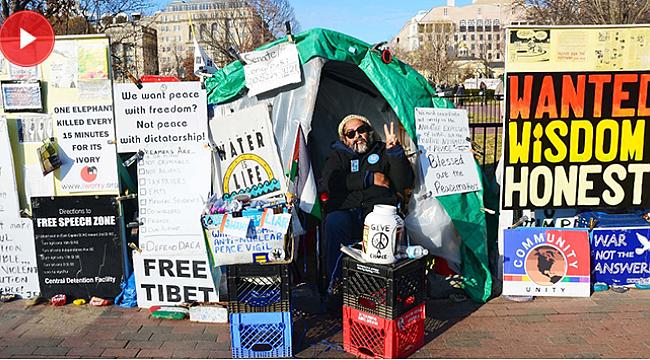 Beyaz Saray'ın önünde 36 yıldır süren protesto