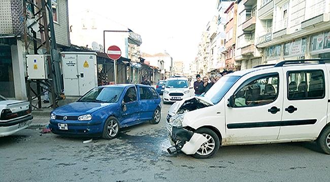 Bafra'da trafik kazası: 8 yaralı