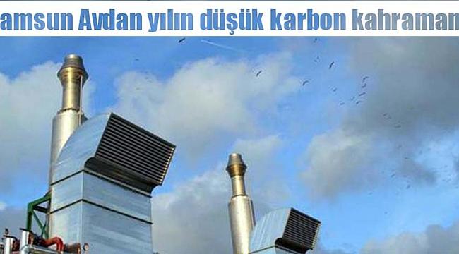 Samsun Avdan yılın düşük karbon kahramanı!