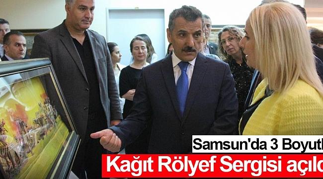Samsun'da 3 Boyutlu Kağıt Rölyef Sergisi açıldı