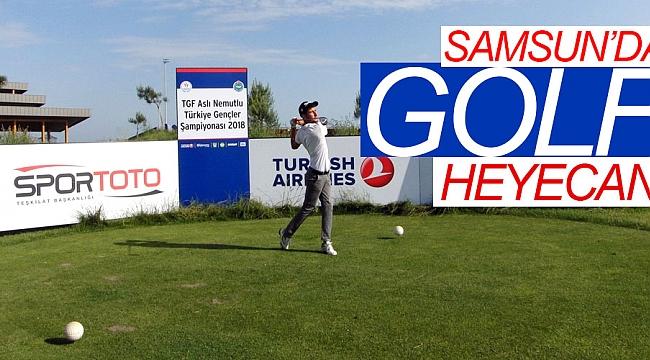 Samsun'da golf heyecanı