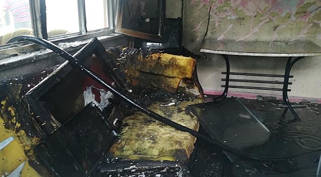 Bafra'da ev yangını korkuttu