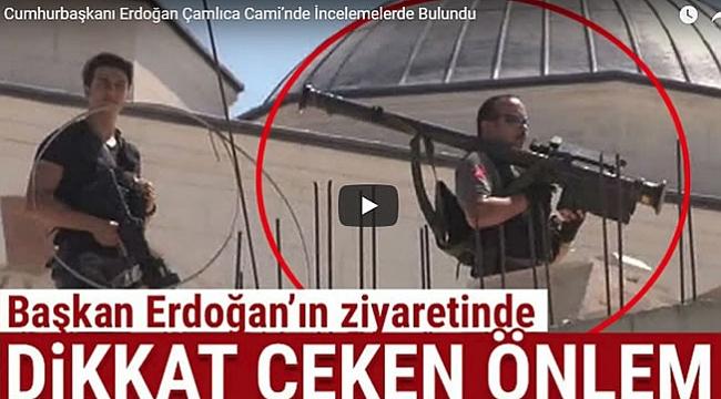 Cumhurbaşkanı Erdoğan Çamlıca Cami'nde İncelemelerde Bulundu