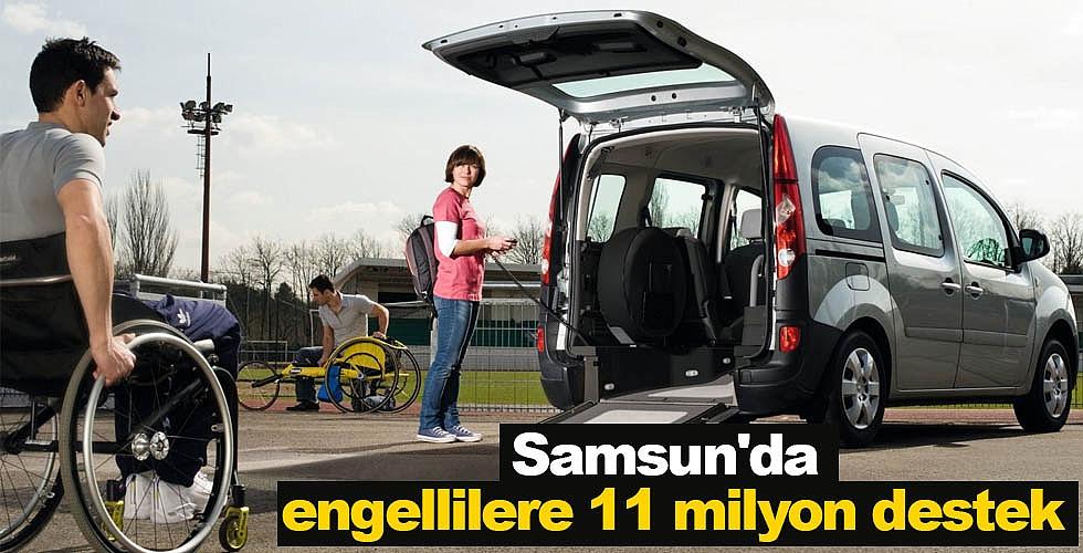 Samsun'da engellilere 11 milyon destek