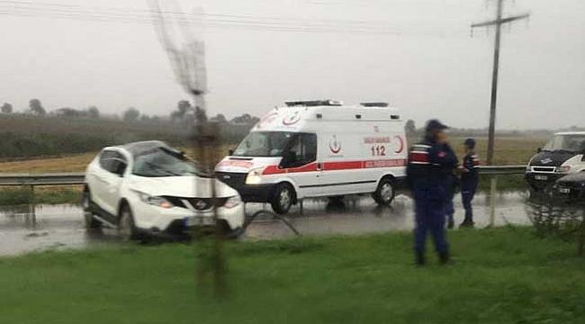Otomobil takla attı:  sürücü ağır yaralı
