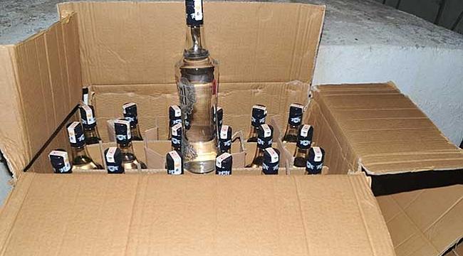 Bafra'da kaçak içki ele geçirildi