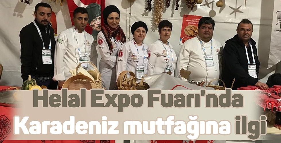 Helal Expo Fuarı'nda Karadeniz mutfağına ilgi