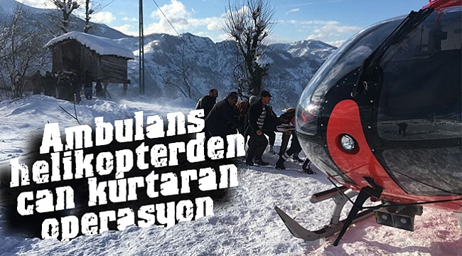 Ambulans helikopterden can kurtaran operasyon