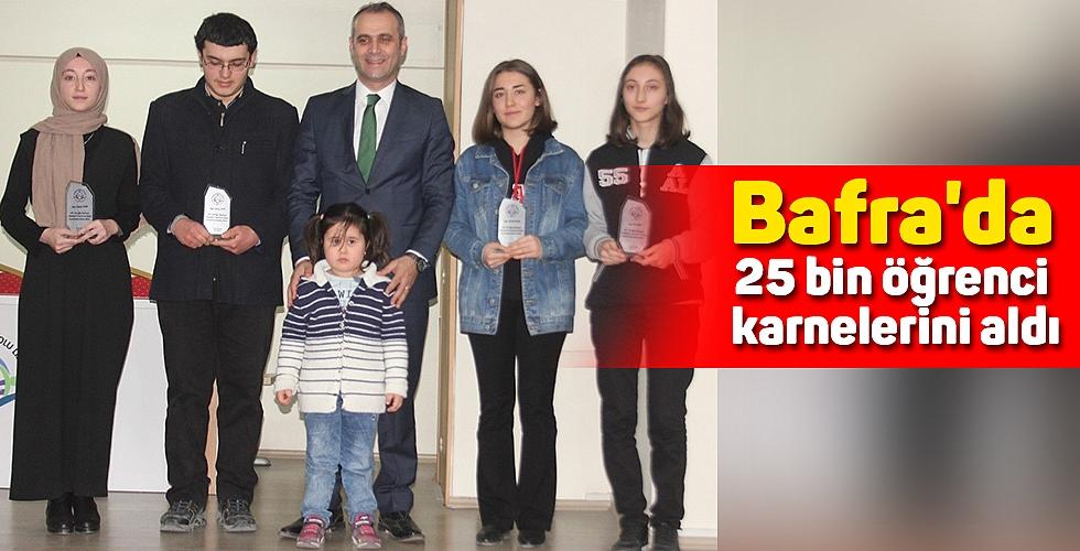 Bafra'da 25 bin öğrenci karnelerini aldı