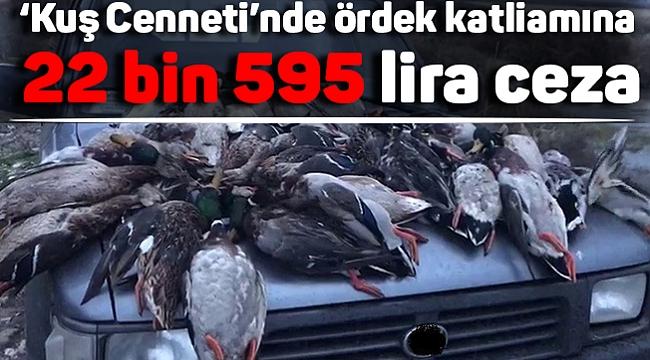 'Kuş Cenneti'nde ördek katliamına 22 bin 595 lira ceza