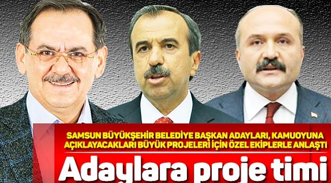 Adaylara proje timi