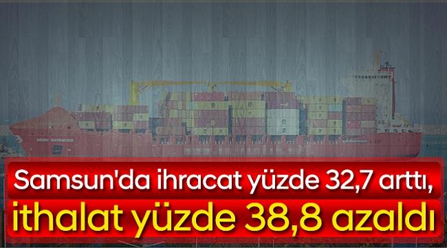 Samsun'da ihracat yüzde 32,7 arttı, ithalat yüzde 38,8 azaldı