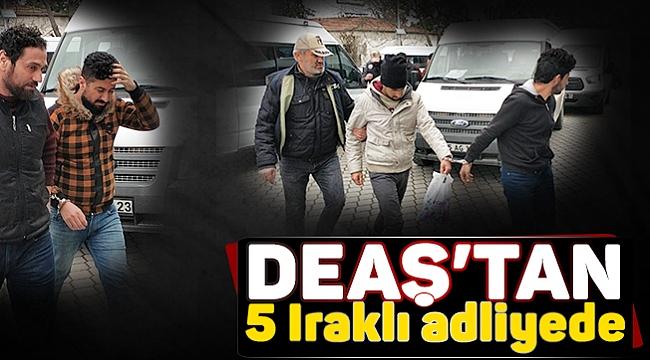Samsun'da DEAŞ'tan 5 Iraklı adliyede
