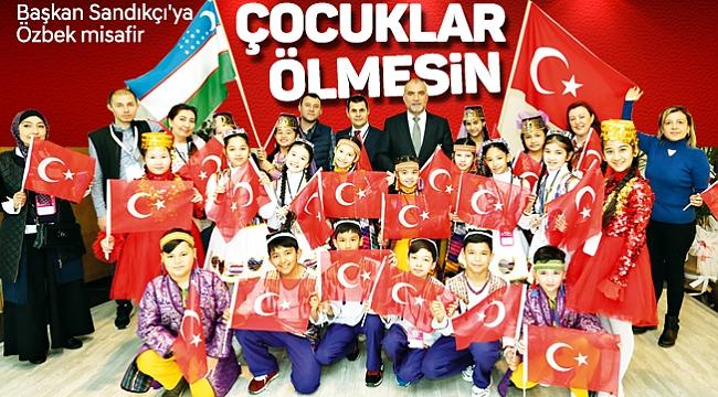 Başkan Sandıkçı'ya Özbek misafir