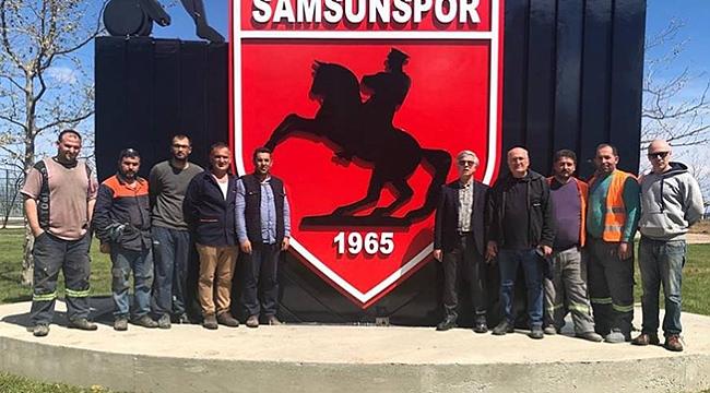 Büyükşehir'den Batı Park'a  Samsunspor logosu