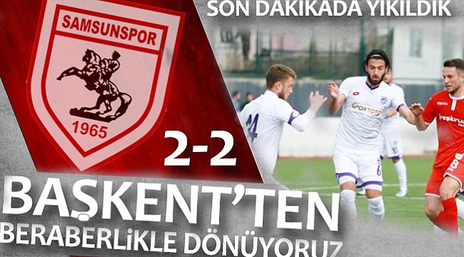 Hacettepe - Yılport Samsunspor maç sonucu: 2-2
