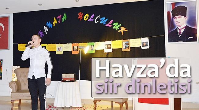 Havza'da şiir dinletisi