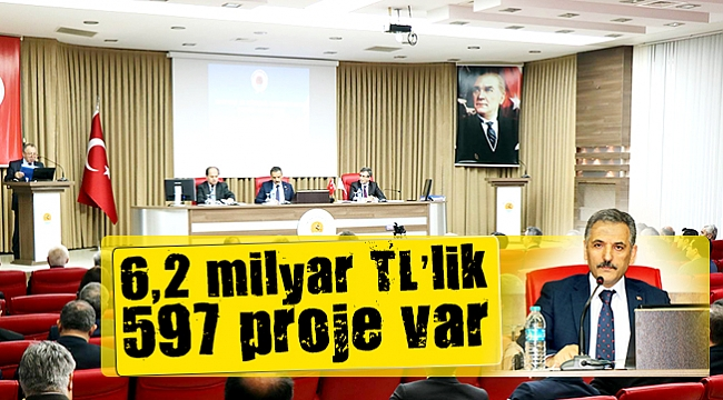 Samsun'da 6,2 milyar TL'lik 597 proje var