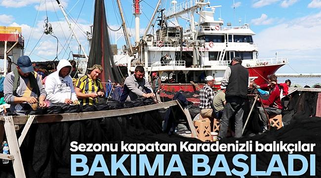 Sezonu kapatan Karadenizli balıkçılar bakıma başladı