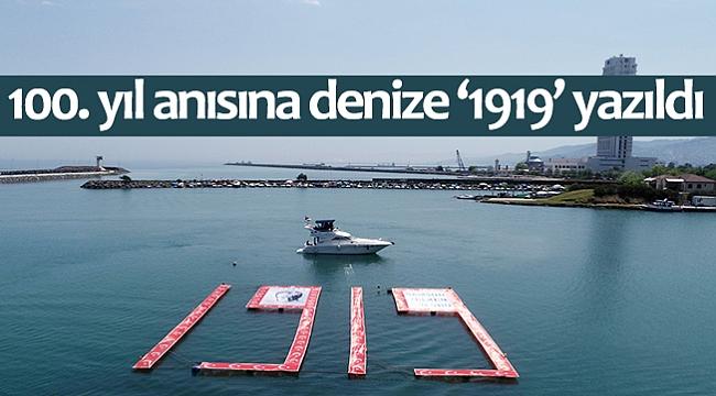 100. yıl anısına denize '1919' yazıldı