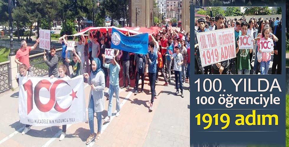 100. yılda 100 öğrenciyle 1919 adım