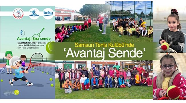 Samsun Tenis Kulübü'nde 'Avantaj Sende'