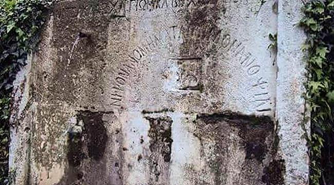 120 yıllık çeşmede Yunan alfabesiyle Türk mesajı