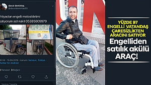 Engelliden satılık akülü araç!