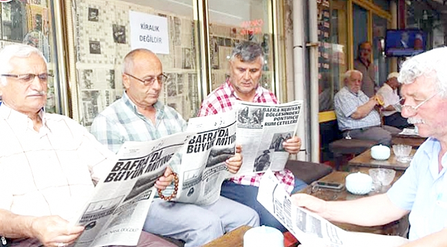 100. yıla özel Bafra gazetesi