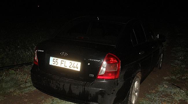 Takibe takılan otomobil Bafra'da yakalandı