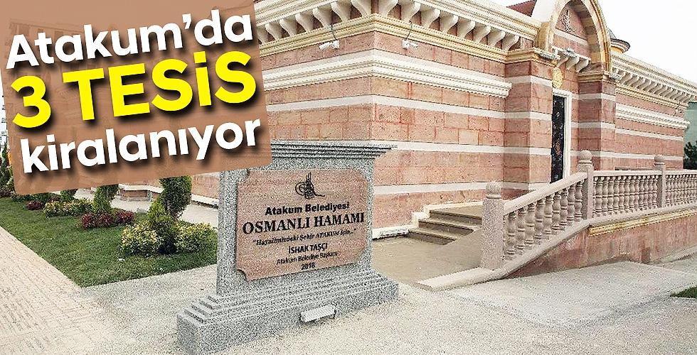 Atakum'da 3 tesis kiralanıyor