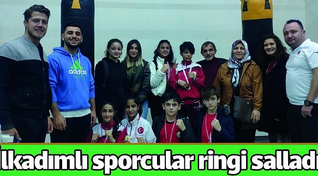 İlkadımlı sporcular ringi salladı!