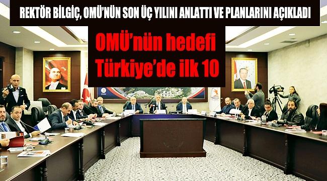 OMÜ'nün hedefi Türkiye'de ilk 10