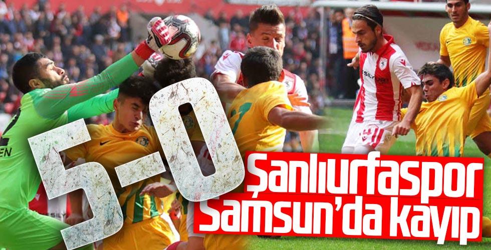 Samsunspor, Şanlıurfaspor'u 5-0'lık skor ile geçti