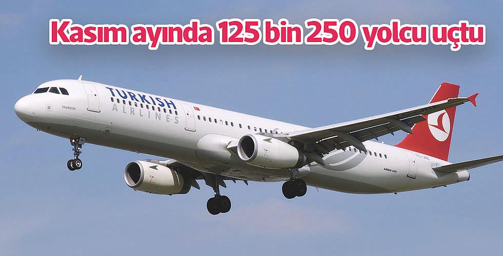 Kasım ayında 125 bin 250 yolcu uçtu