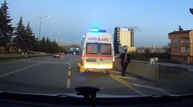Samsun'da dolmuş ambulans tartışması