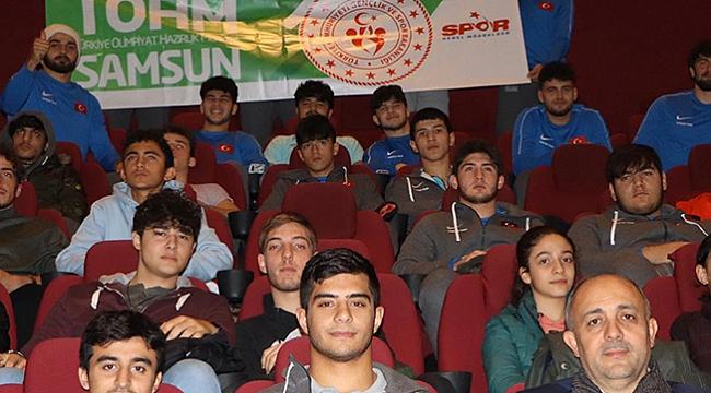 TOHM sporcuları 'Naim'i izledi