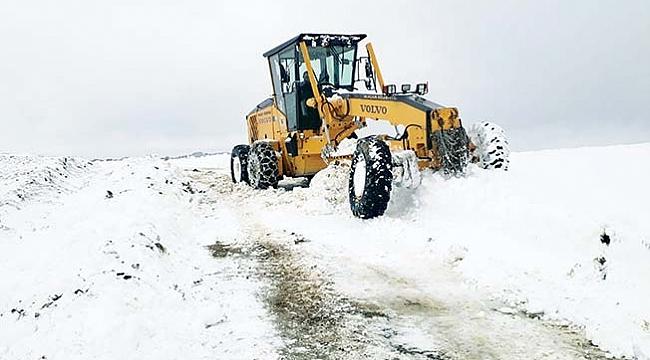 Alaçam'da kar teyakkuzu