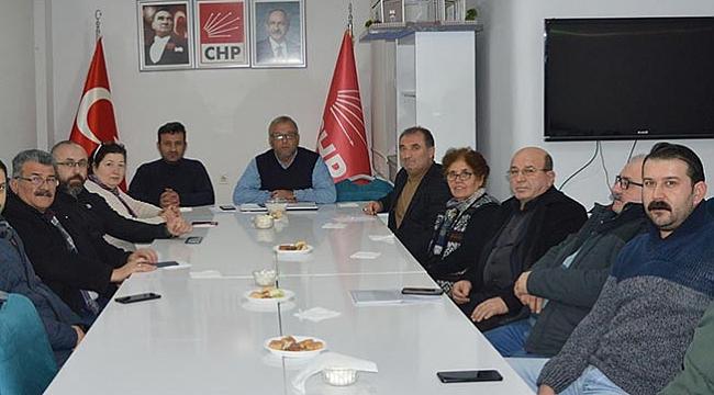 CHP Havza'da görev dağılımı