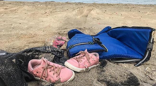 Çocuklardan geriye ayakkabıları kaldı