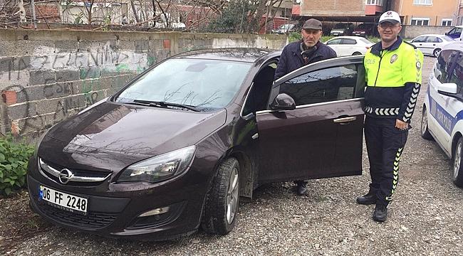 3 gün sonra polisin yardımıyla aracını buldu