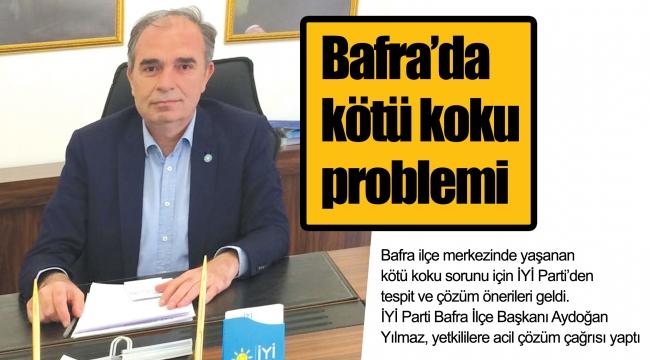 Bafra'da kötü koku problemi