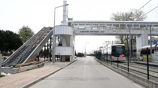 Büyükşehir'den Doğupark'a 'Yürüyen Merdivenli Üst Geçit'