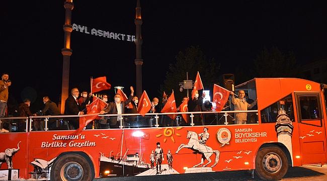 Havza'da 25 Mayıs konvoyu