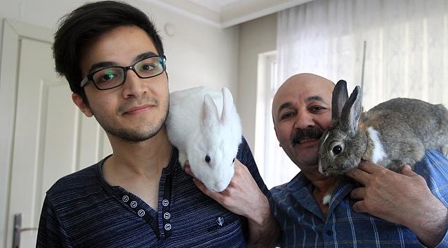 Korona günlerini tavşanlarıyla geçiriyorlar