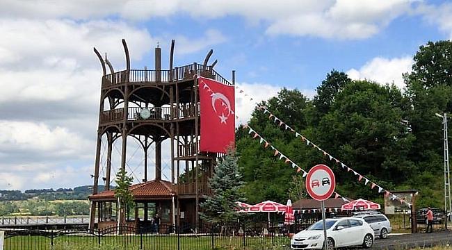 Ladik Gölü kuş gözlem kulesi tamamlandı