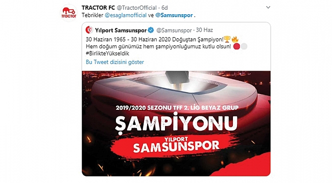 Tractor FC şampiyonluğu kutladı