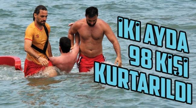 İki ayda 98 kişi kurtarıldı