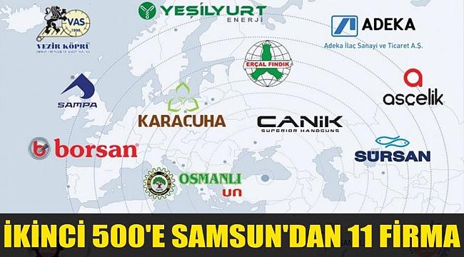 İKİNCİ 500'E SAMSUN'DAN 11 FİRMA