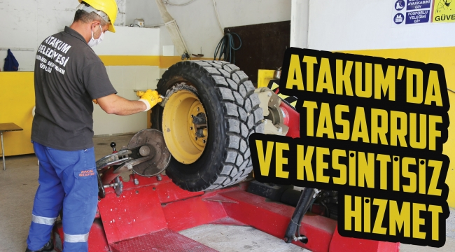 Atakum'da tasarrufve kesintisiz hizmet